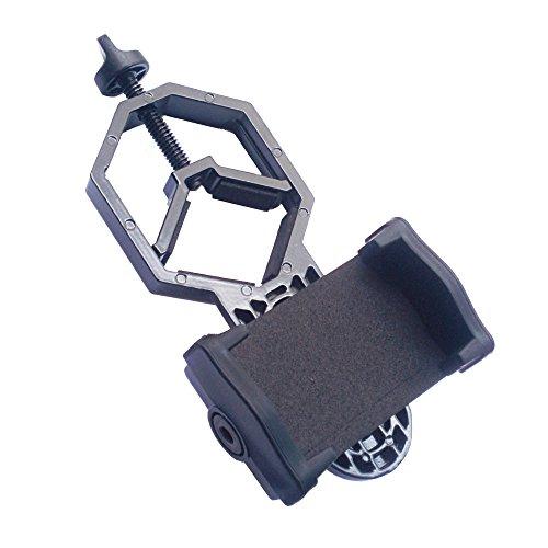 monofive iPhone スマートフォンを望遠鏡 双眼鏡 顕微鏡 フィールドスコープに取付 カメラ撮影できる マウントアダプタホルダー Ver2 軽量(アルミニウム) MF-CLAMP3
