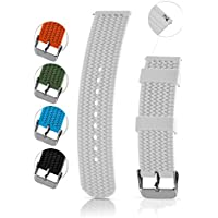 Silicone Replacement Watch Band - Quick Release Soft Rubber Strap - Waterproof, Textured Tire Pattern - Choice of Colors, 18, 20, 22 & 24mm - By United Watchbands