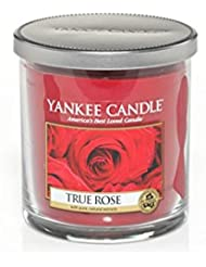 Yankee Candles Small Pillar Candle - True Rose (Pack of 2) - ヤンキーキャンドルの小さな柱キャンドル - 真のバラ (x2) [並行輸入品]