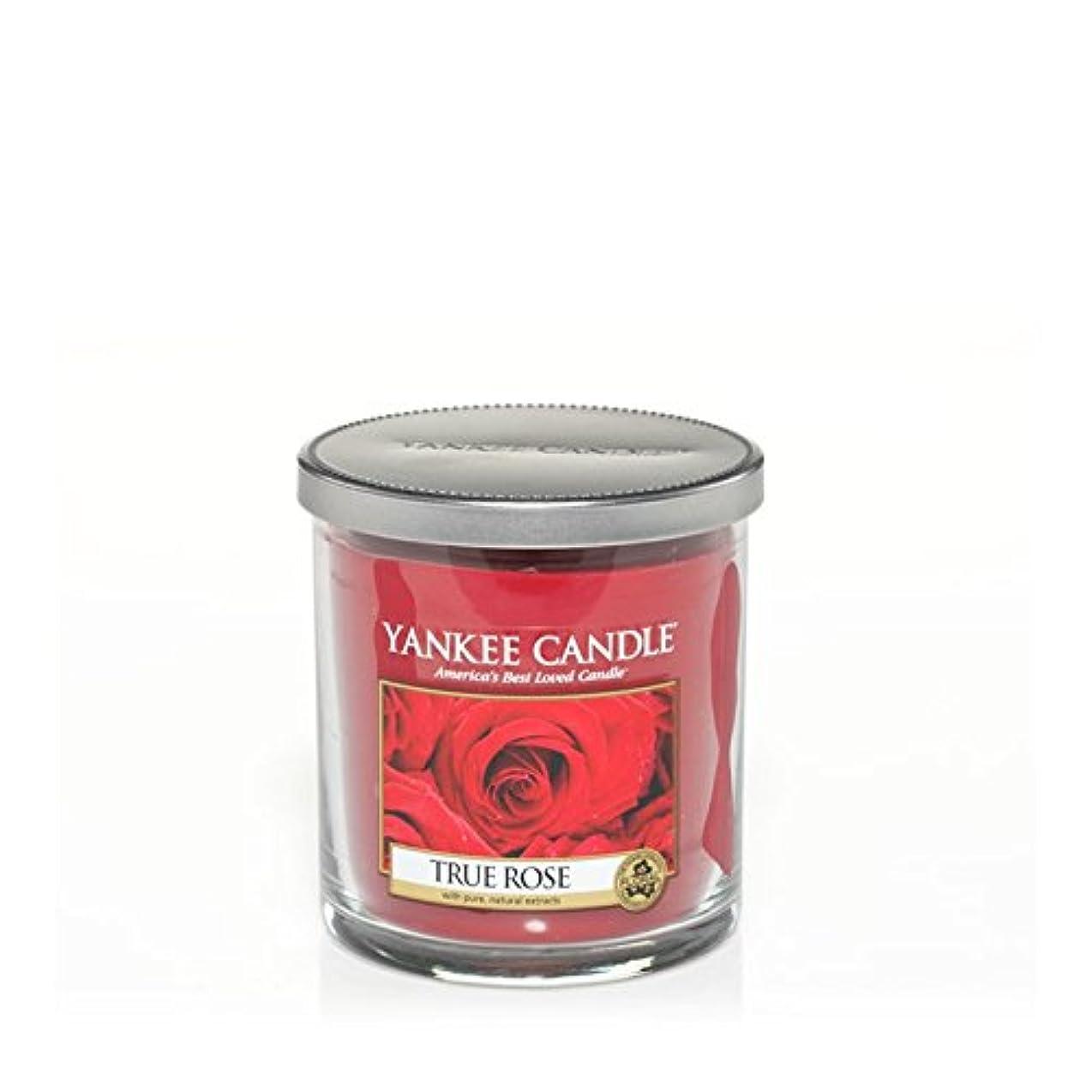 チェスプレミアム仲人Yankee Candles Small Pillar Candle - True Rose (Pack of 2) - ヤンキーキャンドルの小さな柱キャンドル - 真のバラ (x2) [並行輸入品]