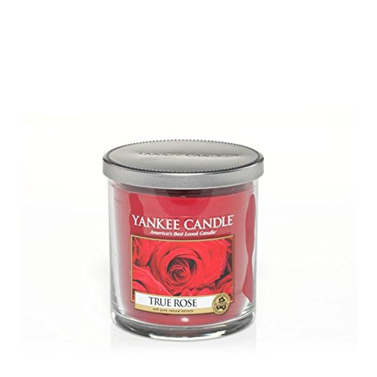 ポップサンダーくつろぎYankee Candles Small Pillar Candle - True Rose (Pack of 2) - ヤンキーキャンドルの小さな柱キャンドル - 真のバラ (x2) [並行輸入品]