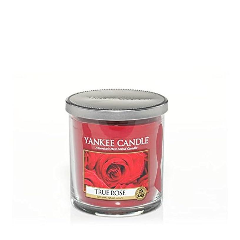 喜ぶ商人ブラウンYankee Candles Small Pillar Candle - True Rose (Pack of 2) - ヤンキーキャンドルの小さな柱キャンドル - 真のバラ (x2) [並行輸入品]