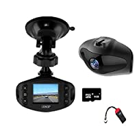 Growtech Dash Cam Driving RecorderFull HD 1080PDash Camera Wide Angle 1.5 LCD Car DVR Driving Video Recorder with Motion DetectionNight Vision Loop Recording [並行輸入品]