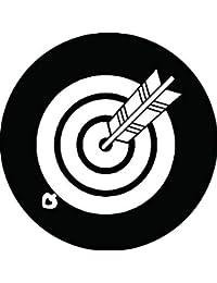 家紋シール 丸的に当り矢紋 布タイプ 直径40mm 6枚セット NS4-0846