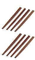 (2) - Chef Craft Bamboo Chopsticks, Brown (2-Pack)