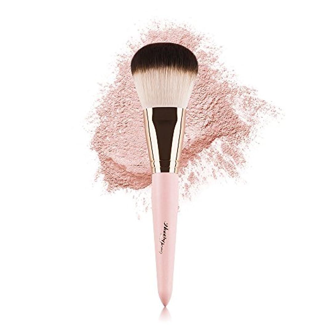 祈る楽なわずらわしいAnne's Giverny チークブラシ パウダー メイクブラシ コスメ 単品 筆化粧ブラシ フェイスファンデーション ブラシ ピンク コスメ 人気 女性 プレゼント
