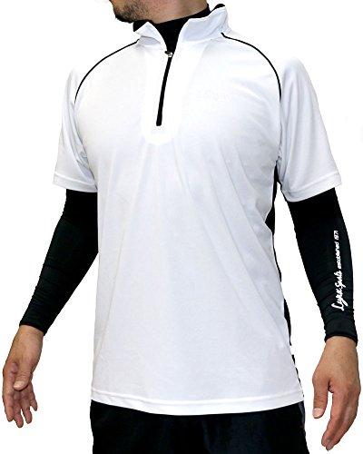 Lynx SPORTS(リンクス スポーツ) ランニングウェア コンプレッション インナー スポーツ Tシャツ セット メンズ ホワイト M