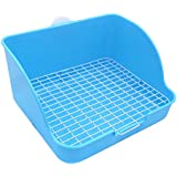 Pet Small Rat Toilet, Square Potty Trainer Corner Litter Bedding Box Pet Pan for Small Animal/Rabbit/Guinea Pig/galesaur/Ferret
