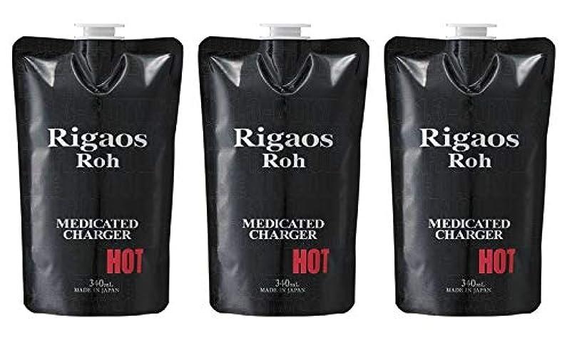 同様のすり減る行【3個セット】リガオス ロー 薬用スカルプケア チャージャー HOT レフィル (340mL)