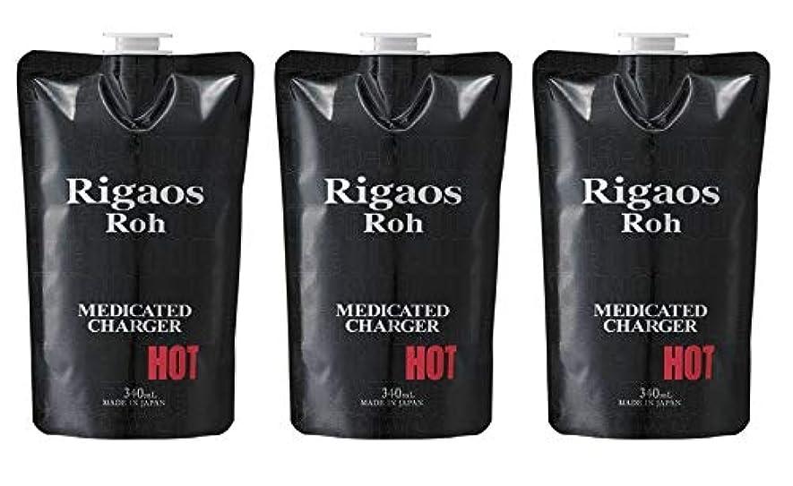悪名高い最少まもなく【3個セット】リガオス ロー 薬用スカルプケア チャージャー HOT レフィル (340mL)