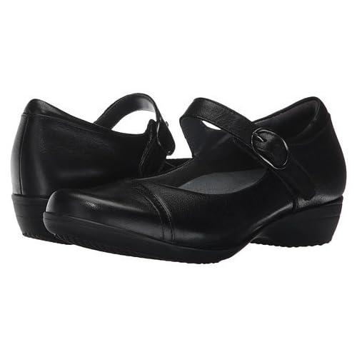 (ダンスコ)Dansko レディースフラットシューズ・スリッポン・靴 Fawna Black Milled Nappa US Women's 8.5-9 24.5-25cm Regular [並行輸入品]