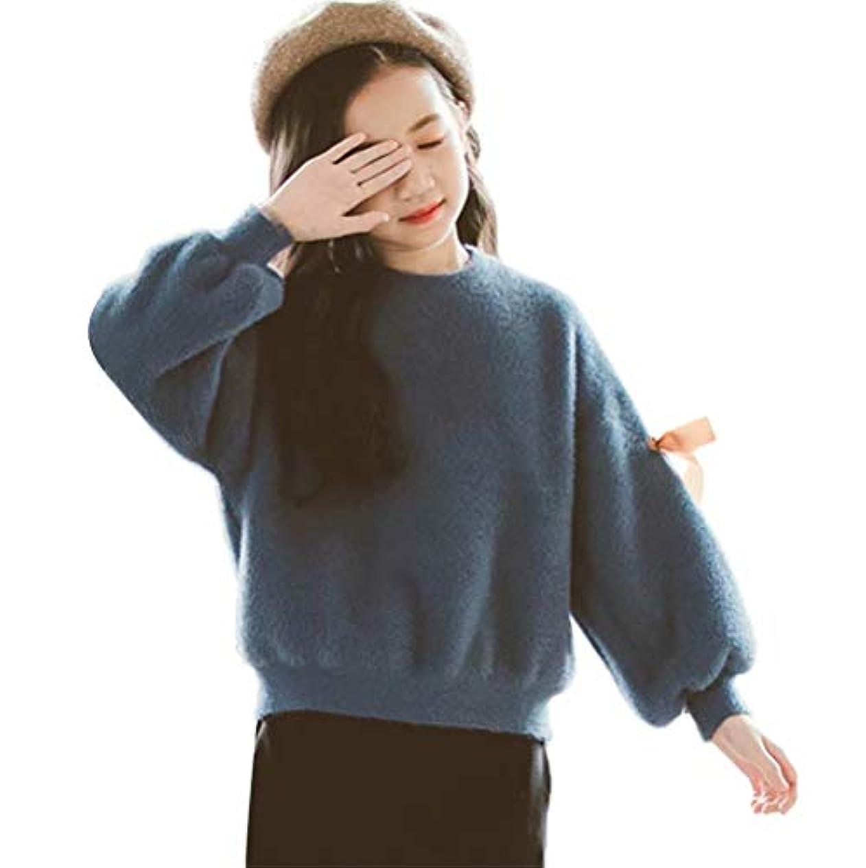 スリット数値急いでBurning Go キッズ パーカー スウエット 女の子 トレーナー セーター もこもこ 蝶リボン プルオーバー トップス 秋冬 ゆったり 柔らかい スポーツウェア 運動服 ダンス衣装