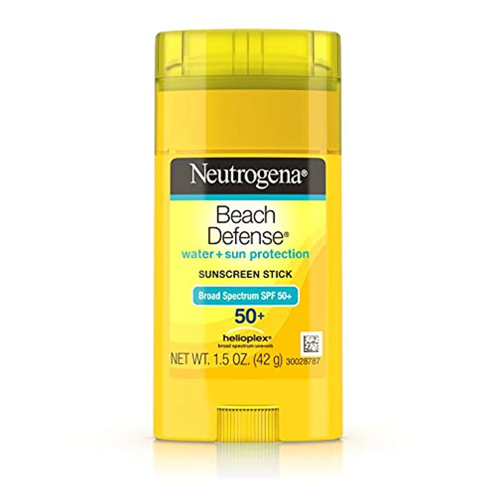 テクトニック省欠乏Neutrogena Sunscreen Beach Defense Sunblock Stick SPF 50, 1.5 Ounce