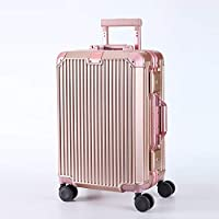 20 Inch Aluminum Frame Trolley Case Universal Wheel Suitcase Luggage Box for Men and Women Suitcasebusiness Universal Trolley Casesuitcase,C,20inches