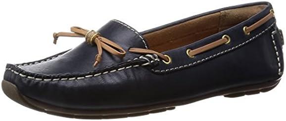 [クラークス] Clarks Dunbar Groove 26108658 Navy Leather (ネイビーレザー/UK 4)