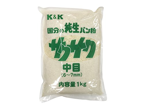 K&K 国分の純正パン粉 サクサク 中目(6〜7mm)1kg