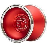 YoYoFactory Nightmare Unresponsive Bimetal YoYo - Color : Red w/ Polished Rims [並行輸入品]