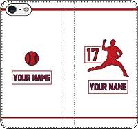 iPhone/Xperia/Galaxy/他機種選択可:野球2箇所カスタム(番号/名前) 手帳ケース(デザインMJ:ホーム_B) 07 iPhone8