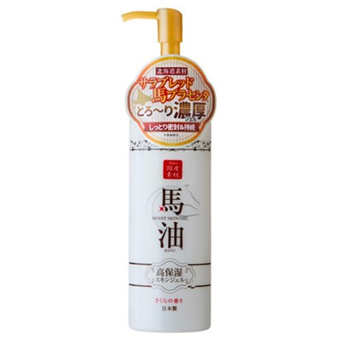 徹底的に飼い慣らす呼吸するアイスタイル リシャン 馬油しっとりスキンジェル さくらの香り 200mL