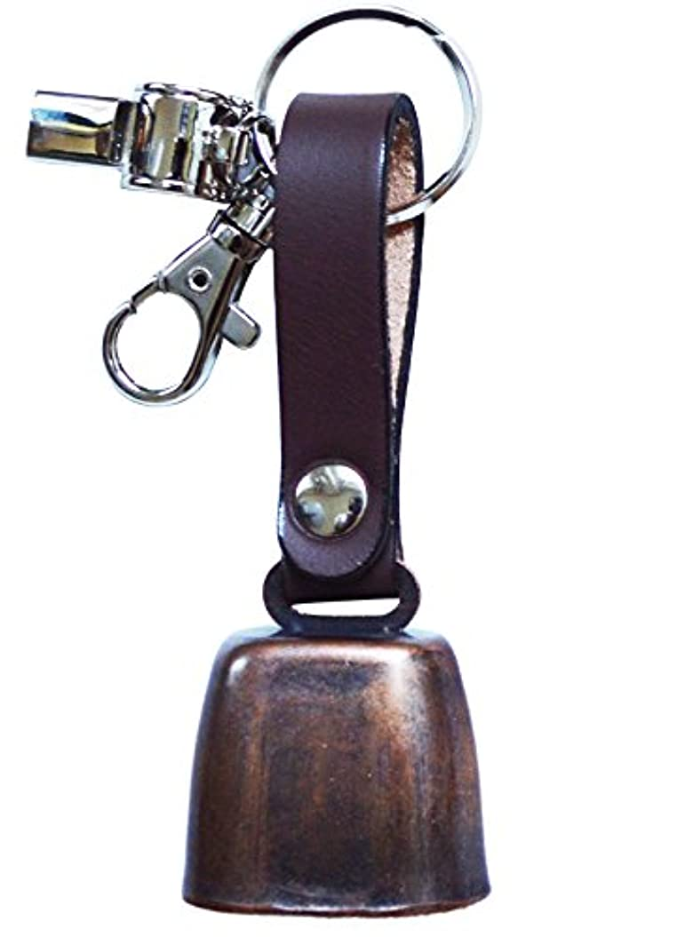 郵便物口ひげアリーナDANGER 熊よけベル 日本製 本牛皮革 ポリス笛付
