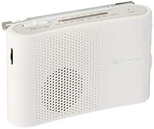 SONY FM/AMハンディーポータブルラジオ ホワイト ICF-51/W
