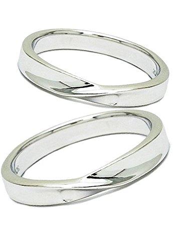 [クローストゥーミー] Close to me ブルーダイヤモンド ハート シルバー 925 ペアリング 2個セット カップル 指輪 (女性7号と男性15号) 人気