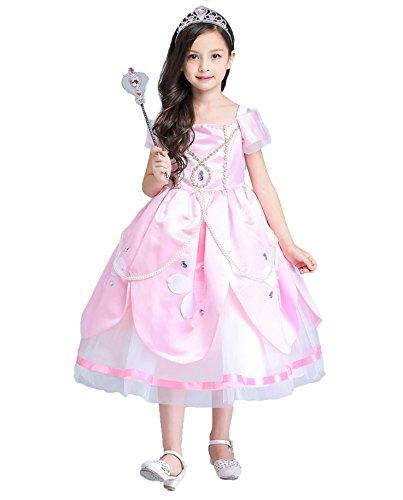 80e6d98c70585 プリンセスなりきり フォーマル子供 ドレス お姫様ドレス 女の子 なりきり キッズドレス ソフィア ワンピース+王冠+