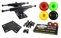 Owlsome 5.25ブラックアルミニウムスケートボードトラックW / 52mmホイールコンボセット