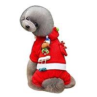 FidgetGear クリスマス子犬パーカースウェットシャツコートセーター犬服コスチューム活気 赤08