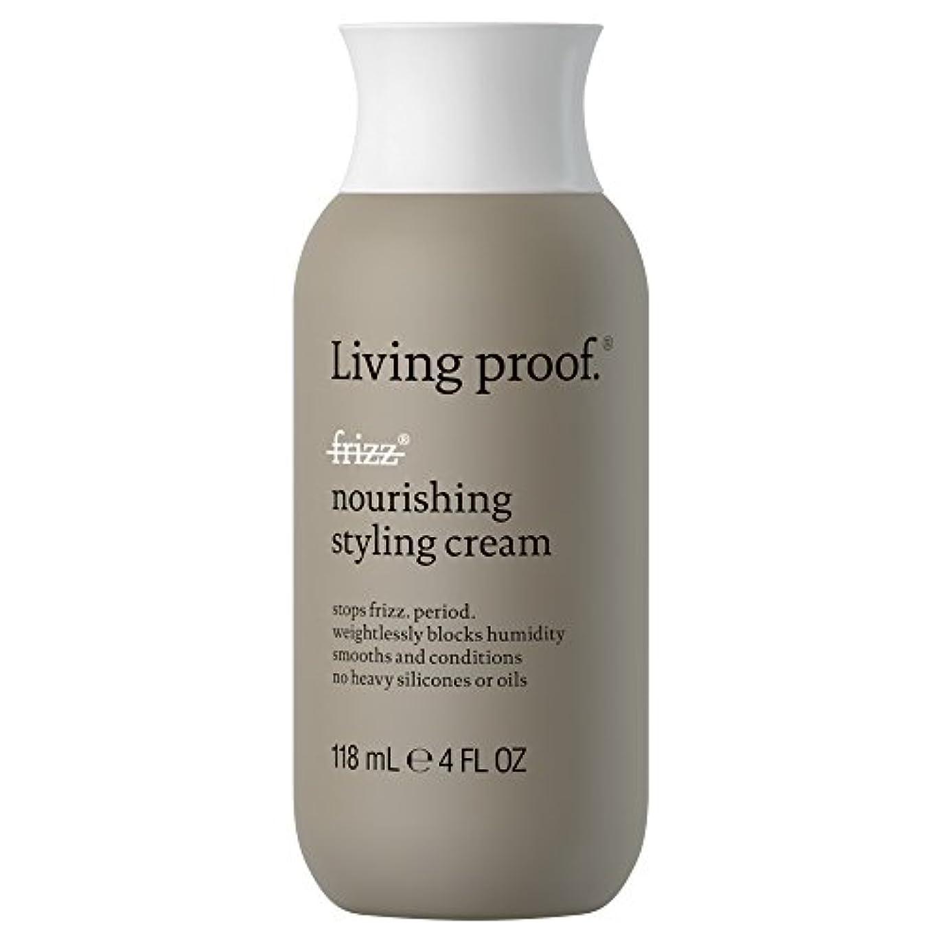 避難単独で優しい生きている証拠なし縮れ栄養スタイリングクリーム118ミリリットル (Living Proof) (x6) - Living Proof No Frizz Nourishing Styling Cream 118ml (Pack...