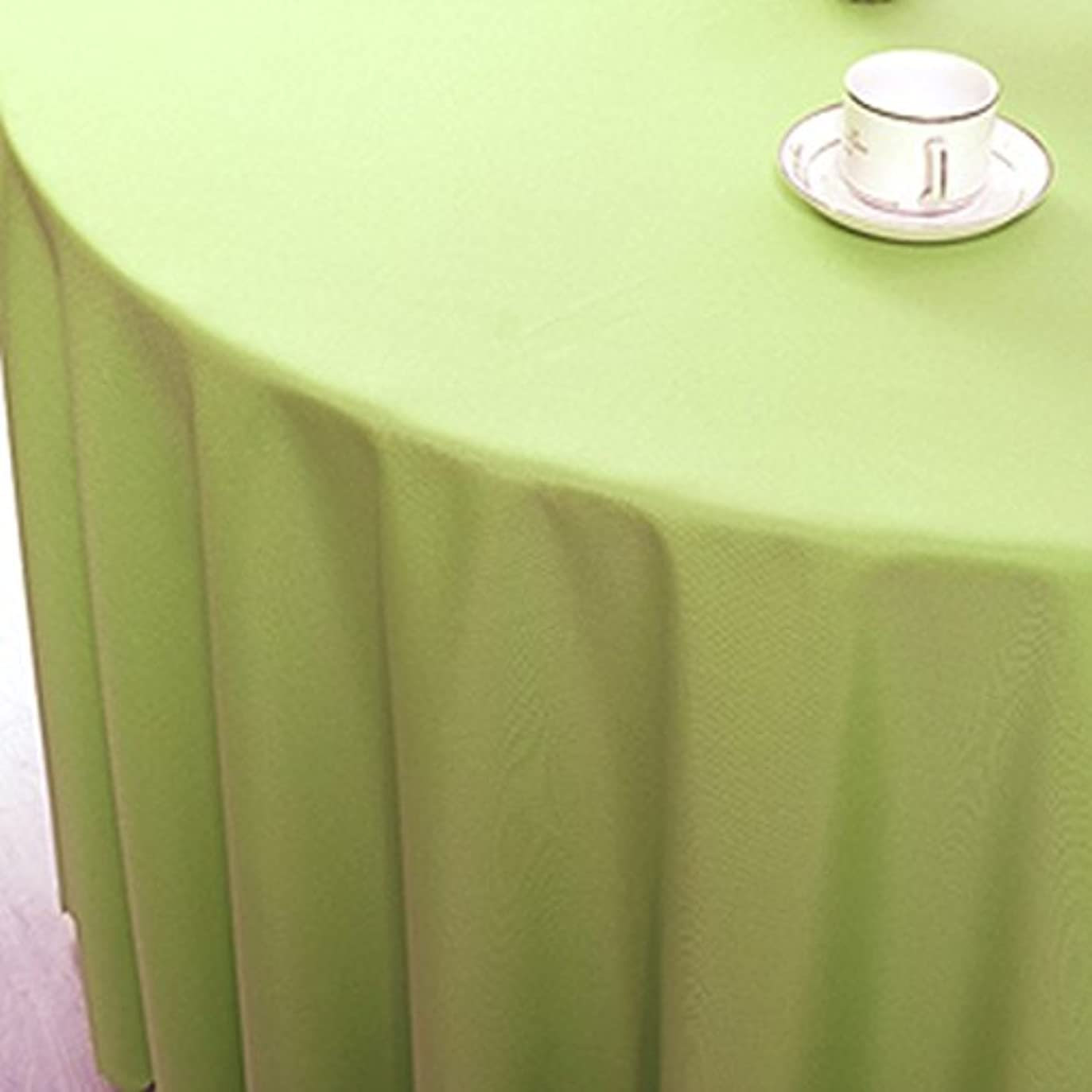 たくさんの説明不機嫌Djyyh ラウンドポリエステルテーブルクロスヨーロッパスタイルコーヒーテーブルレストランホテルテーブルクロスのソリッドカラー複数のサイズ複数の色(62インチ/ 160センチメートル - 125センチメートル/ 320センチメートル) (Color : Grass green, Size : Round 300cm)