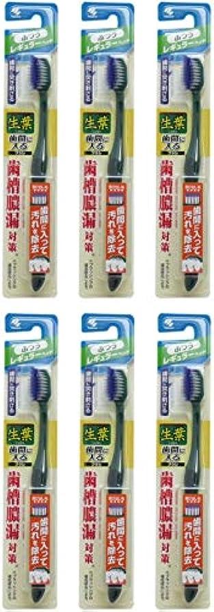 紫のあからさまハーネス【まとめ買い】生葉(しょうよう)歯間に入るブラシ 歯ブラシ レギュラー ふつう【×6個】