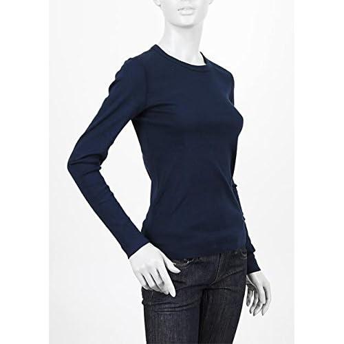 (スリードッツ) three dots クルーネック長袖Tシャツ XSサイズ Alex T NAVY [並行輸入品]
