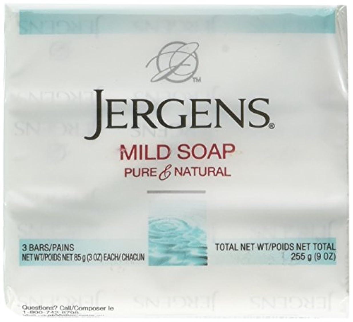 耐久命令的どっちでもJergens 顔や体、3オンスのバー、3カウントにマイルドソープ(4パック)
