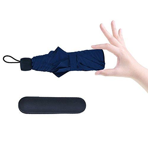 Gracetop 大きい傘 アウトドア 男性 手動折り畳み傘 超撥水 軽い傘 防水 濡れない 青い傘 (Blue)