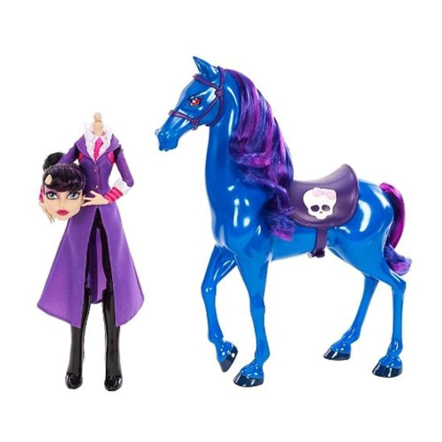 Monster High - Headless Headmistress Bloodgood Doll and Nightmare Horse Set