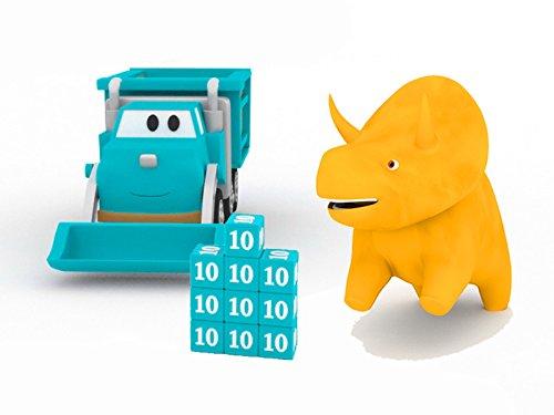 ごみ収集車、恐竜のダイノと一緒に色や数字を学ぼう&数字のキューブでタワーを作って、恐竜のダイノと一緒に学ぼう