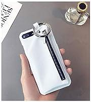 新品 人気 完全保護 フェイクレザー 防塵 インスタ映え 財布付きiphoneケース (iphoneX/XS通用, 白)