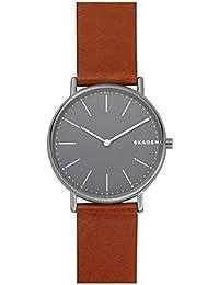 SKAGEN SKW6429 Signatur Slim Titanium and Cognac Leather Watch [スカーゲン] シグネチャー チタン ブラウンレザー バンド 腕時計 [並行輸入品]