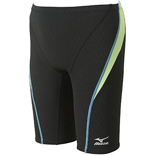 MIZUNO(ミズノ)レース用競泳水着メンズストリームアクティバハーフスパッツFINA承認N2MB604093サイズ:XLブラック×ライム