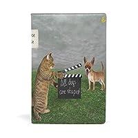 バララ(La Rose) ブックカバー 文庫 a5 皮革 レザー おしゃれ かわいい ネコ 猫柄 犬柄 文庫本カバー ファイル 資料 収納入れ オフィス用品 読書 雑貨 プレゼント