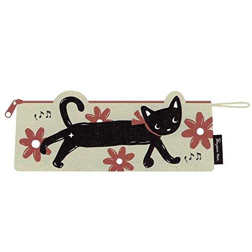 【黒猫ミィー】 ペンケース(フラワー)[227775]