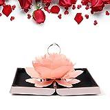 バラの花創意指輪ケース リングケース バレンタインデー プロポーズ 結婚指輪 婚約指輪 カップルプレゼント 記念のプレゼント ロマンチックなおしゃれ 幸せ (ピンク)