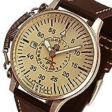 Aeromatic 1912(エアロマティック 1912) A1394 自動巻き レトロパイロット リューズガード GMT ドイツミリタリー メンズウォッチ 腕時計[並行輸入品]