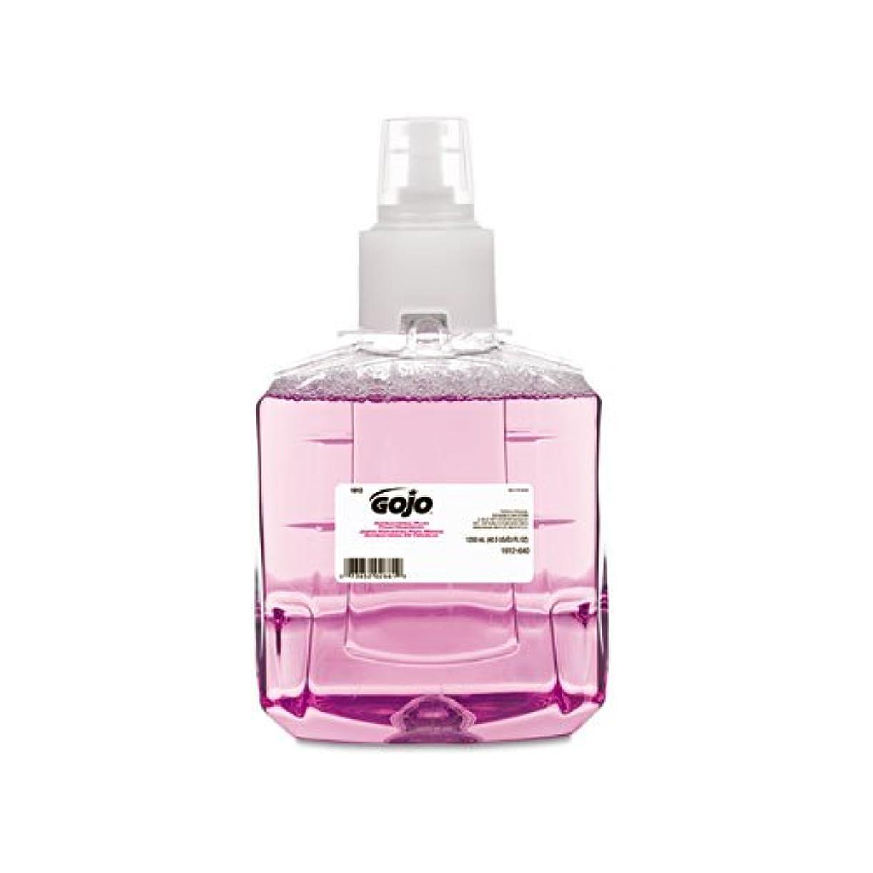 影のあるに慣れワームGOJO抗菌泡手洗い、詰め替え、プラム、1200 ml詰め替え、2 /カートン