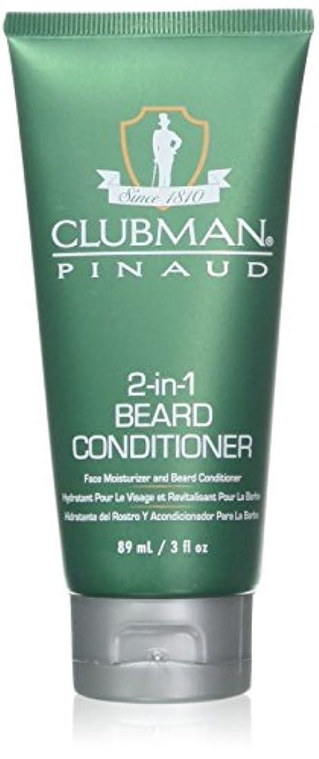予防接種マイナー卑しいClubman 髭2-IN-1コンディショナー3オンスチューブ(88Ml)(2パック)