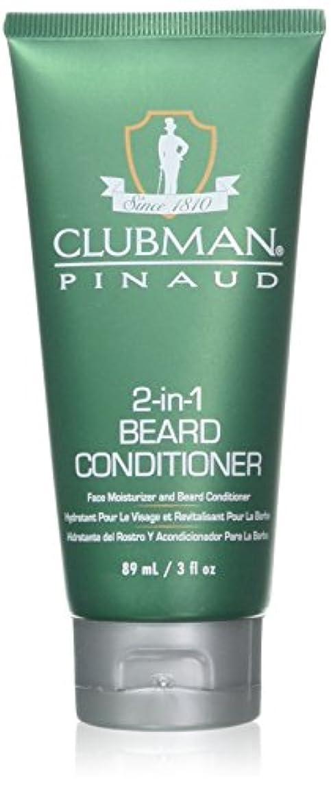 物理的に熱悲観的Clubman 髭2-IN-1コンディショナー3オンスチューブ(88Ml)(2パック)