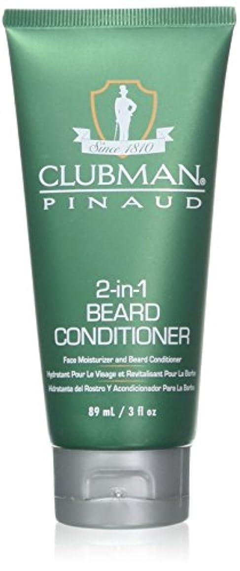 意外コミットメント昇るClubman 髭2-IN-1コンディショナー3オンスチューブ(88Ml)(2パック)