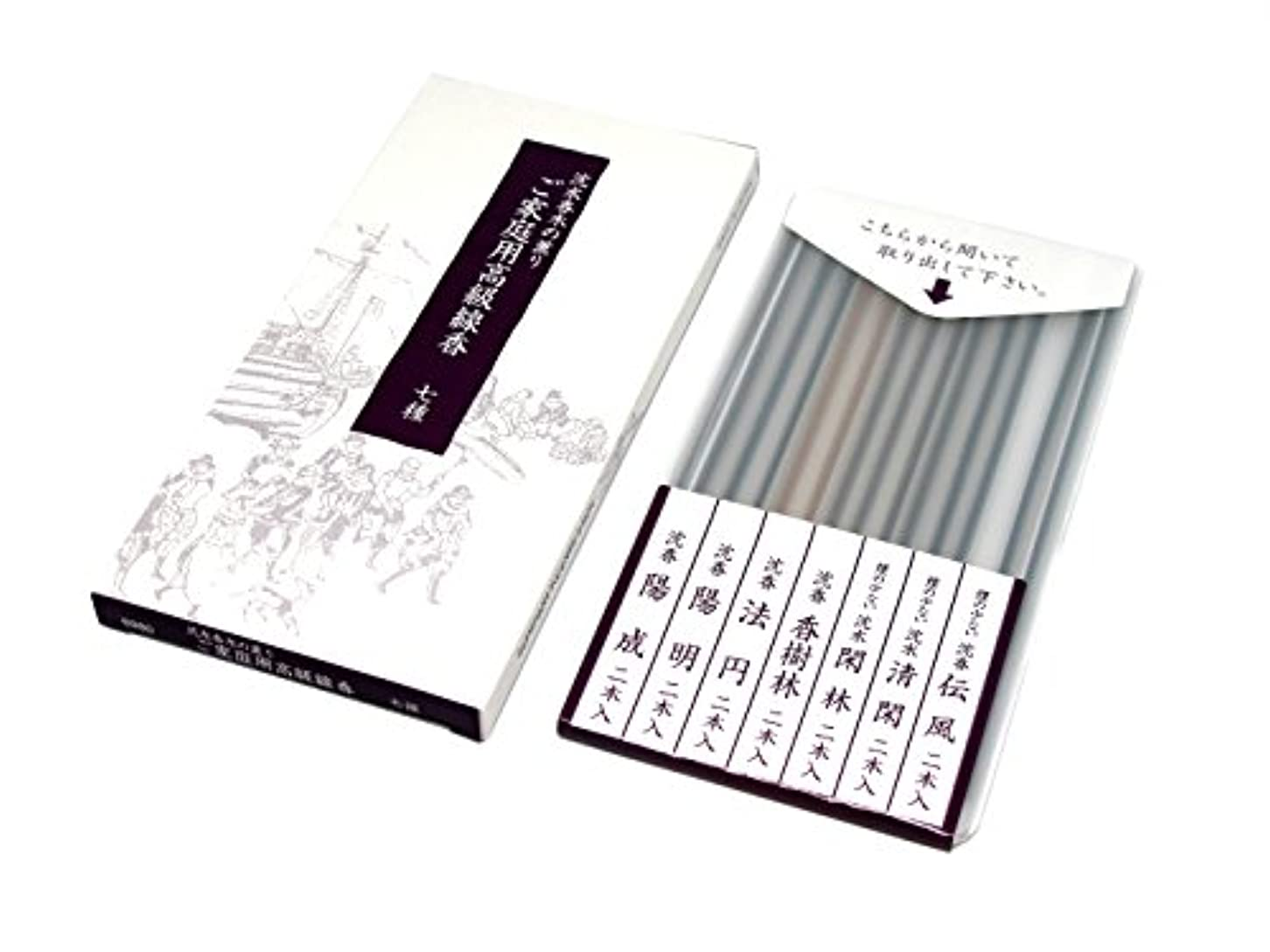 正確さ視力牛gyokushodo Japanese Agarwood Incense Stick Sampler – 5.5インチ – 7種類2 Sticks各 – 日本製 – Aloeswood – Oud