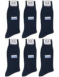 WORLD RHYTHM 純綿 メンズ リブ 編み ハイ クルー丈 ソックス 6足セット (紳士 靴下) 25cm